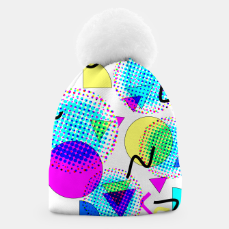 Thumbnail image of Memphis Retro 80's Pop-art Pattern Beanie, Live Heroes