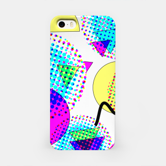 Memphis Retro 80's Pop-art Pattern iPhone Case thumbnail image