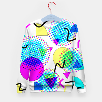 Memphis Retro 80's Pop-art Pattern Kid's sweater thumbnail image