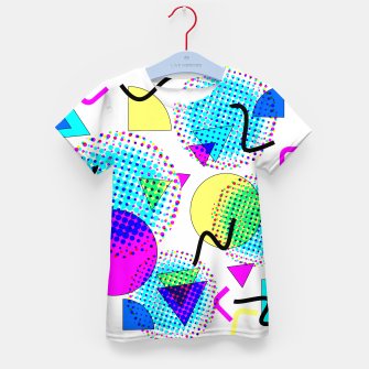 Memphis Retro 80's Pop-art Pattern Kid's t-shirt thumbnail image