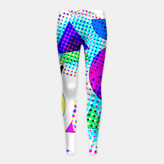 Thumbnail image of Memphis Retro 80's Pop-art Pattern Girl's leggings, Live Heroes
