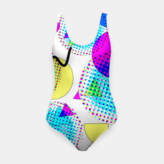 Thumbnail image of Memphis Retro 80's Pop-art Pattern Swimsuit, Live Heroes
