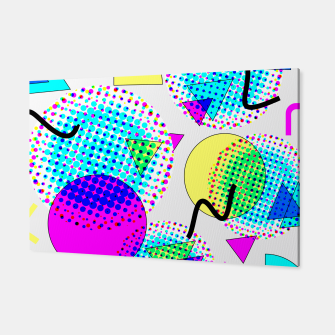 Thumbnail image of Memphis Retro 80's Pop-art Pattern Canvas, Live Heroes