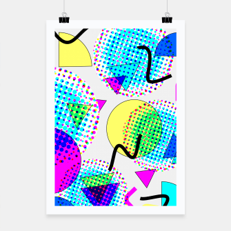 Thumbnail image of Memphis Retro 80's Pop-art Pattern Poster, Live Heroes