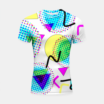 Thumbnail image of Memphis Retro 80's Pop-art Pattern Shortsleeve rashguard, Live Heroes