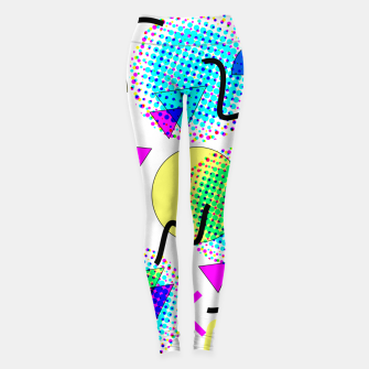 Memphis Retro 80's Pop-art Pattern Leggings thumbnail image