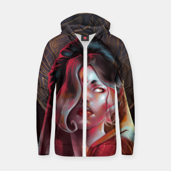 Thumbnail image of Portrait Cotton zip up hoodie, Live Heroes