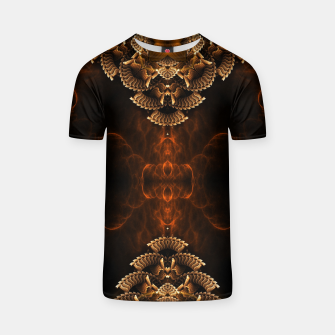 Thumbnail image of Golden Floral Flare T-shirt, Live Heroes
