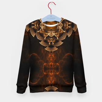 Thumbnail image of Golden Floral Flare Kid's sweater, Live Heroes
