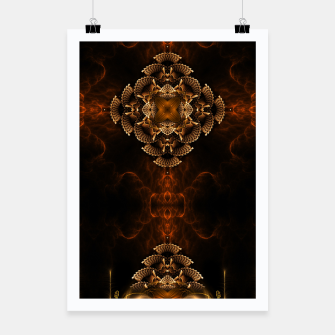 Thumbnail image of Golden Floral Flare Poster, Live Heroes