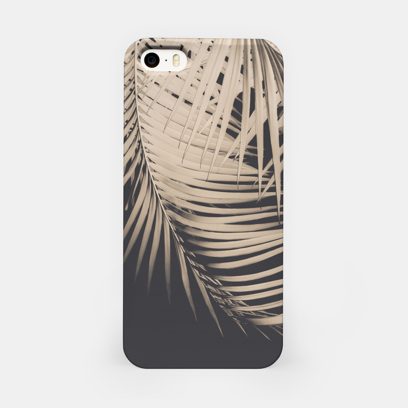 Image of Palm Leaves Sepia Vibes #1 #tropical #decor #art iPhone-Hülle - Live Heroes
