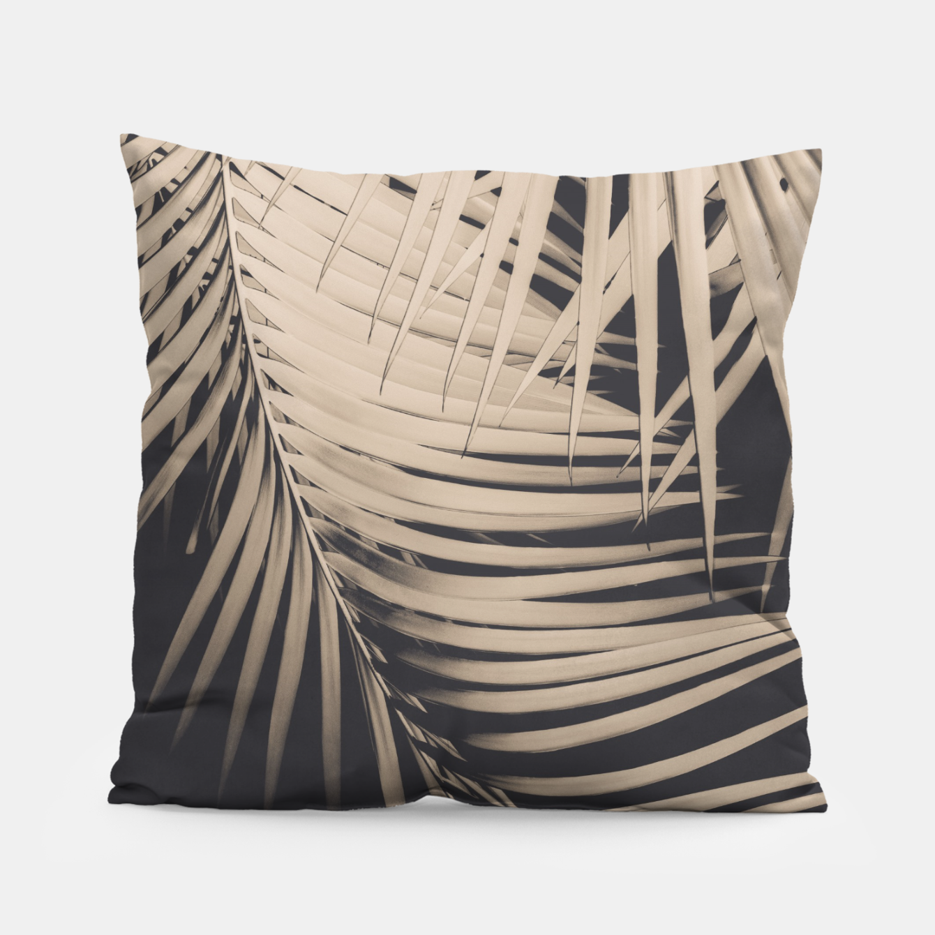Image of Palm Leaves Sepia Vibes #1 #tropical #decor #art Kissen - Live Heroes
