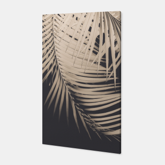 Palm Leaves Sepia Vibes #1 #tropical #decor #art Canvas thumbnail image