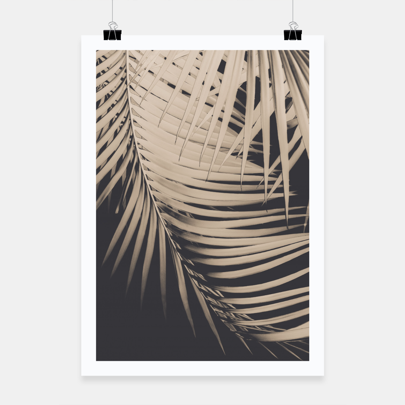 Image of Palm Leaves Sepia Vibes #1 #tropical #decor #art Plakat - Live Heroes