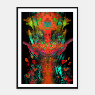 Miniatur Atomic Psychedelia Framed poster, Live Heroes