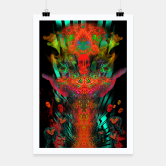 Miniatur Atomic Psychedelia Poster, Live Heroes