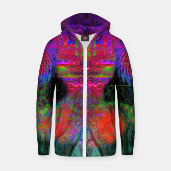 Miniature de image de The Swirling Spirit of Creativity Cotton zip up hoodie, Live Heroes
