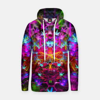 Miniatur Cannabinoid Space-Time Warp (psychedelic,abstract, cannabis leaf) Cotton hoodie, Live Heroes