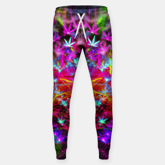 Miniatur Cannabinoid Space-Time Warp (psychedelic,abstract, cannabis leaf) Cotton sweatpants, Live Heroes