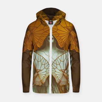Thumbnail image of Transformation II Cotton zip up hoodie, Live Heroes