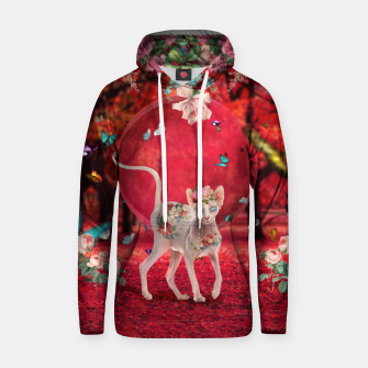 Thumbnail image of Moonlight Sphynx Cotton hoodie, Live Heroes