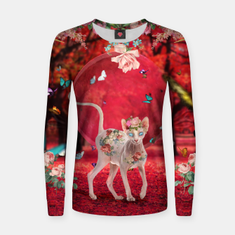 Thumbnail image of Moonlight Sphynx Woman cotton sweater, Live Heroes