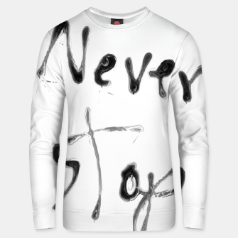 Thumbnail image of Never Stop handwriting in black and white Cotton sweater, Live Heroes