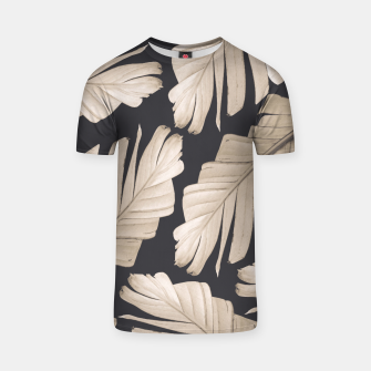 Sepia Banana Leaves Dream #1 #foliage #decor #art T-Shirt thumbnail image