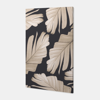Sepia Banana Leaves Dream #1 #foliage #decor #art Canvas thumbnail image