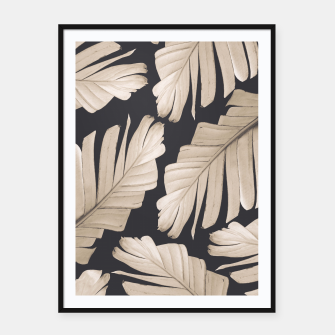 Sepia Banana Leaves Dream #1 #foliage #decor #art Plakat mit rahmen thumbnail image