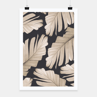 Sepia Banana Leaves Dream #1 #foliage #decor #art Plakat thumbnail image