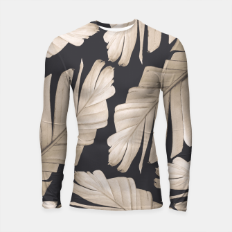 Sepia Banana Leaves Dream #1 #foliage #decor #art Longsleeve rashguard thumbnail image