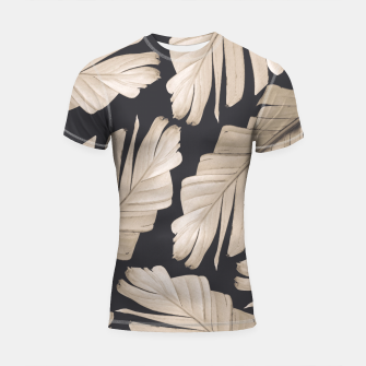 Sepia Banana Leaves Dream #1 #foliage #decor #art Shortsleeve rashguard thumbnail image