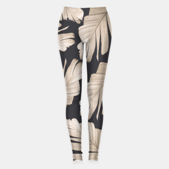 Sepia Banana Leaves Dream #1 #foliage #decor #art Leggings thumbnail image