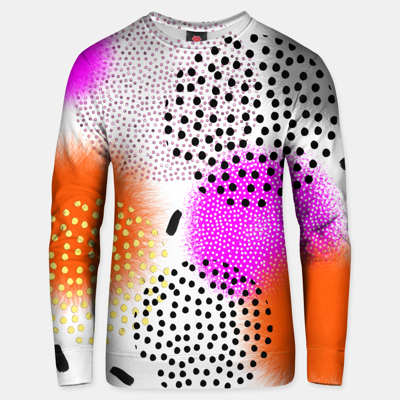 Image of Bold Bright Geometric Abstract Fusion Cotton sweater - Live Heroes