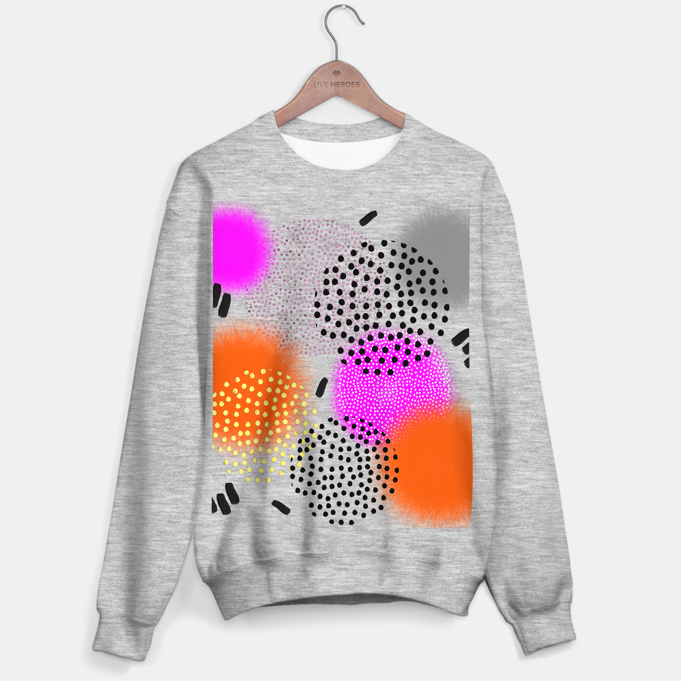 Image of Bold Bright Geometric Abstract Fusion Sweater regular - Live Heroes