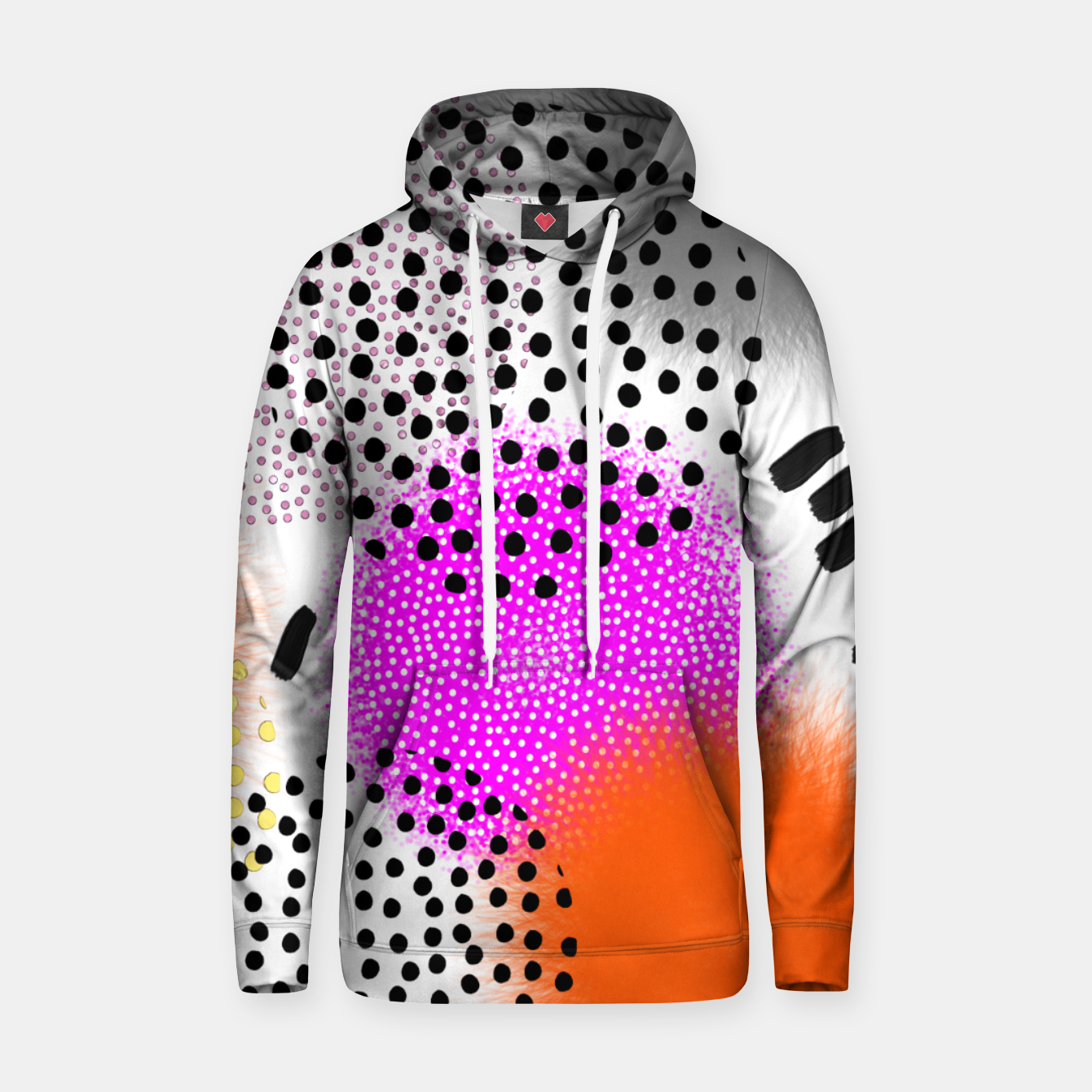 Image of Bold Bright Geometric Abstract Fusion Cotton hoodie - Live Heroes
