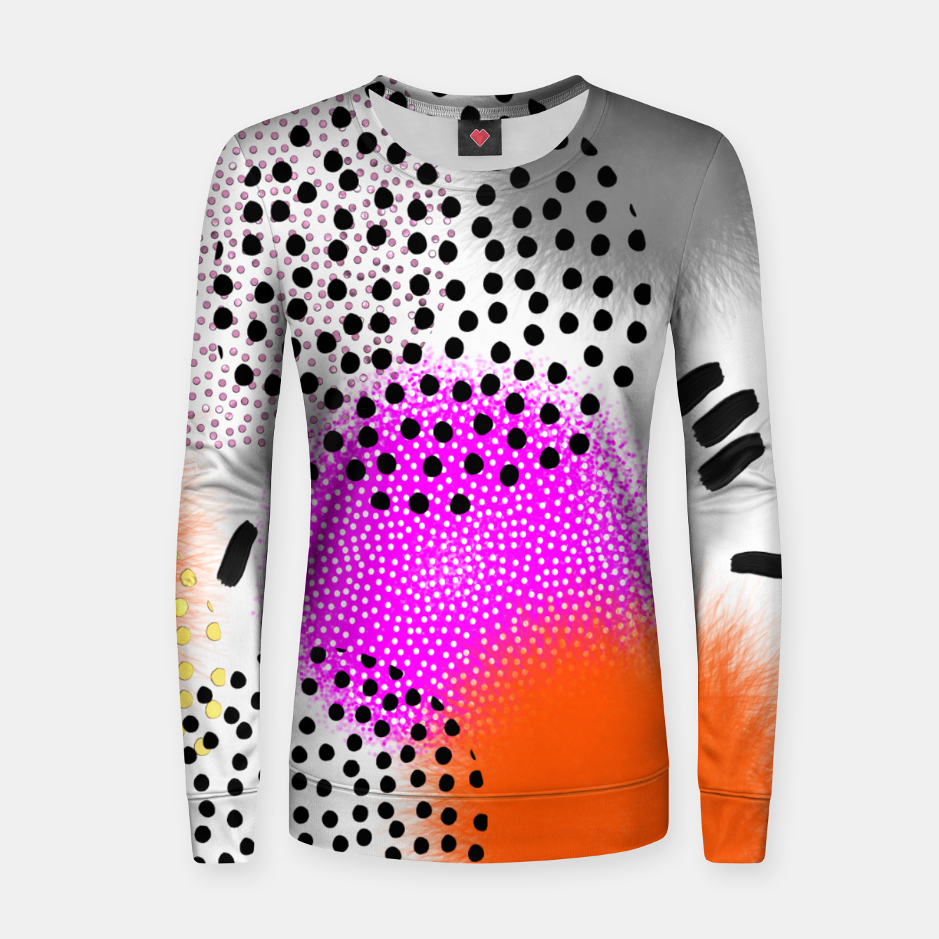 Image of Bold Bright Geometric Abstract Fusion Woman cotton sweater - Live Heroes