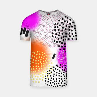Bold Bright Geometric Abstract Fusion T-shirt thumbnail image
