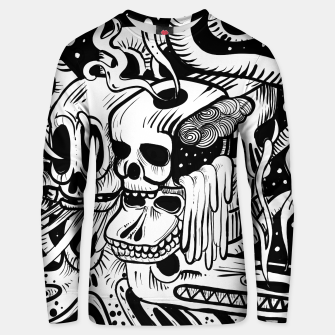 Thumbnail image of Skull Doodle Cotton sweater, Live Heroes