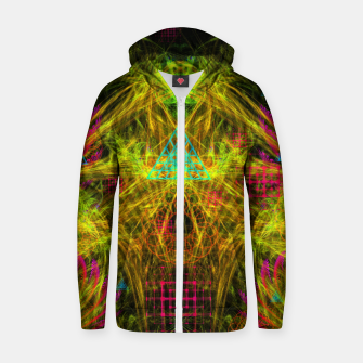 Thumbnail image of Alien Mind Flourish  Cotton zip up hoodie, Live Heroes