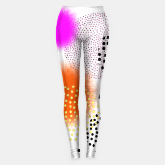 Thumbnail image of Bold Bright Geometric Abstract Fusion Leggings, Live Heroes
