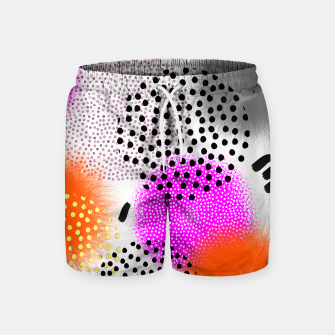 Thumbnail image of Bold Bright Geometric Abstract Fusion Swim Shorts, Live Heroes