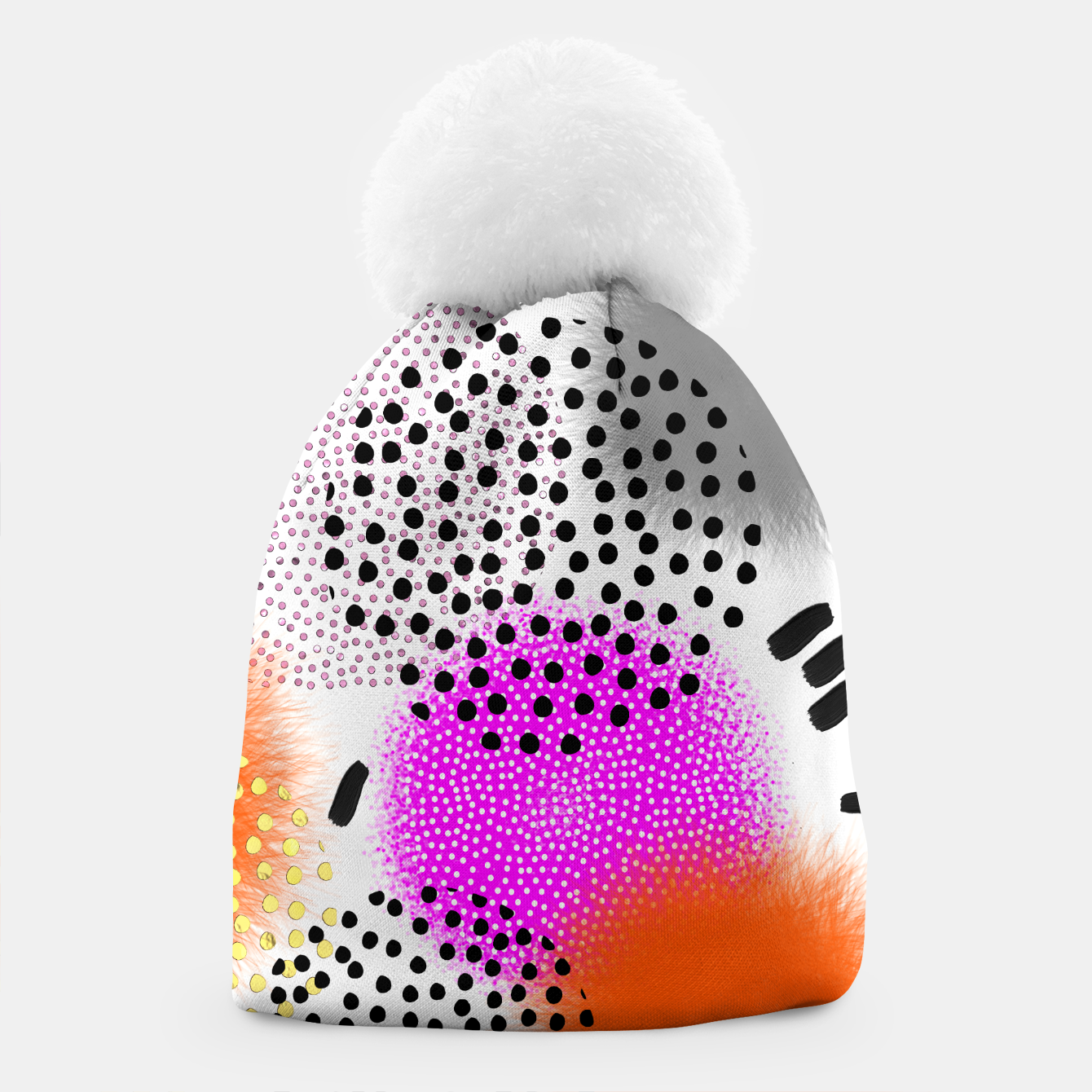 Image of Bold Bright Geometric Abstract Fusion Beanie - Live Heroes