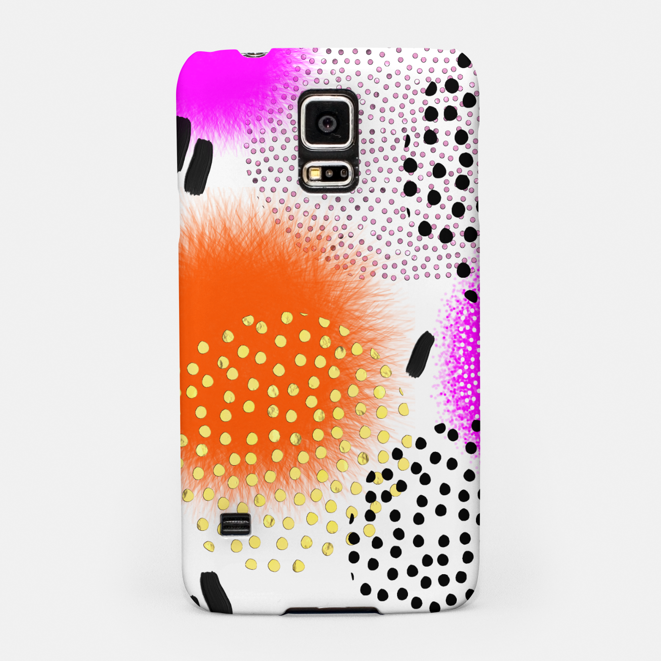 Image of Bold Bright Geometric Abstract Fusion Samsung Case - Live Heroes