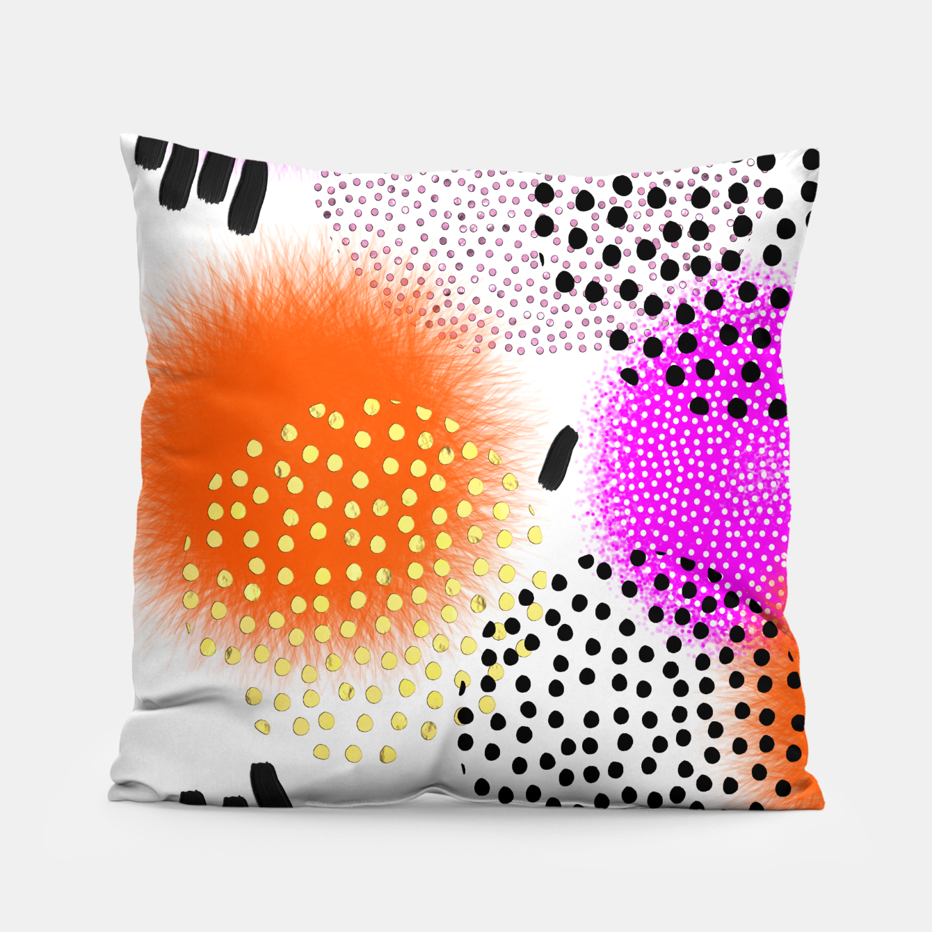 Image of Bold Bright Geometric Abstract Fusion Pillow - Live Heroes