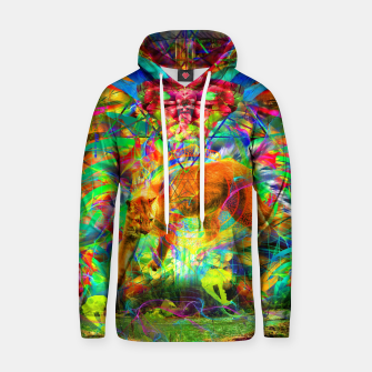Thumbnail image of The Laser Focus of Cougar Conciousness (cat, mountain lion) Cotton hoodie, Live Heroes