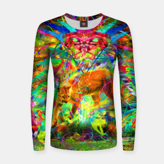 Thumbnail image of The Laser Focus of Cougar Conciousness (cat, mountain lion) Woman cotton sweater, Live Heroes