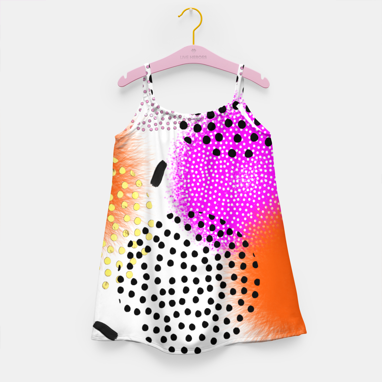 Image of Bold Bright Geometric Abstract Fusion Girl's dress - Live Heroes