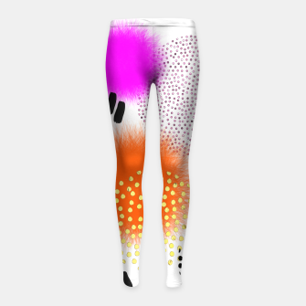 Thumbnail image of Bold Bright Geometric Abstract Fusion Girl's leggings, Live Heroes